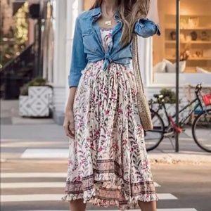 Boho chic Gypsy feel Floral Print Midi Dress